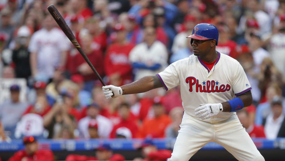 PHILADELPHIA, PA - OCTOBER 02: Ryan Howard #6 of the Philadelphia Phillies in action against the New York Mets during a game at Citizens Bank Park on October 2, 2016 in Philadelphia, Pennsylvania. (Photo by Rich Schultz/Getty Images)