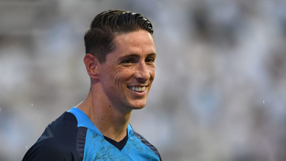 TOSU, JAPAN - JULY 22:  (EDITORIAL USE ONLY) Fernando Torres of Sagan Tosu looks on prior to the J.League J1 match between Sagan Tosu and Vegalta Sendai at Best Amenity Stadium on July 22, 2018 in Tosu, Saga, Japan.  (Photo by Masashi Hara/Getty Images)