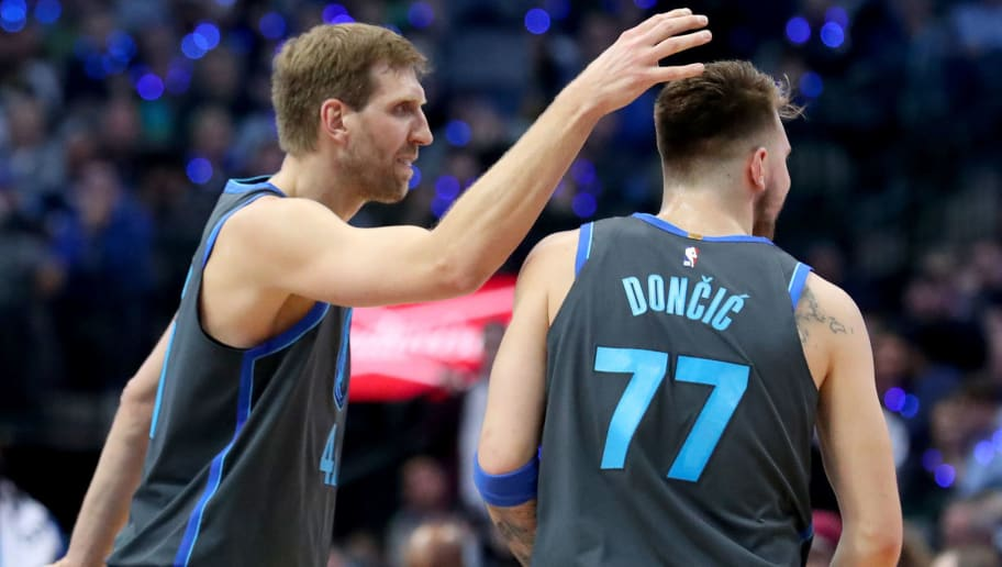 Image result for dirk nowitzki with luka