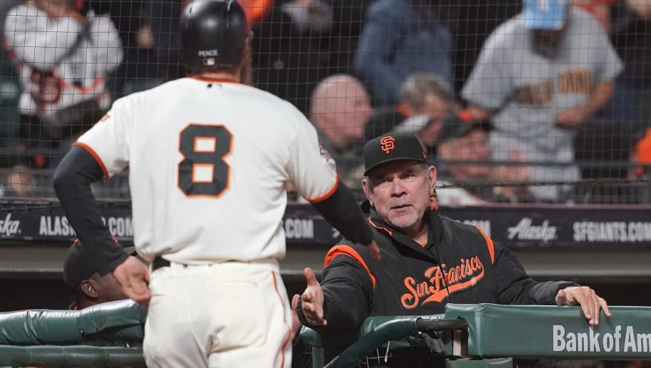 Hunter Pence,Bruce Bochy