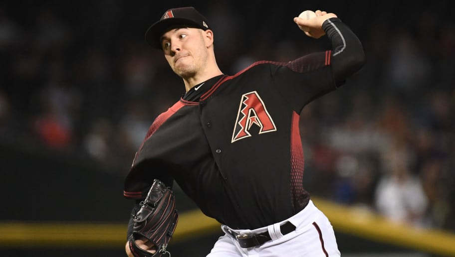 PHOENIX, AZ - AUGUST 03:  Patrick Corbin #46 of the Arizona Diamondbacks delivers a pitch in the first inning of the MLB game against the San Francisco Giants at Chase Field on August 3, 2018 in Phoenix, Arizona. The Arizona Diamondbacks won 6-3.  (Photo by Jennifer Stewart/Getty Images)