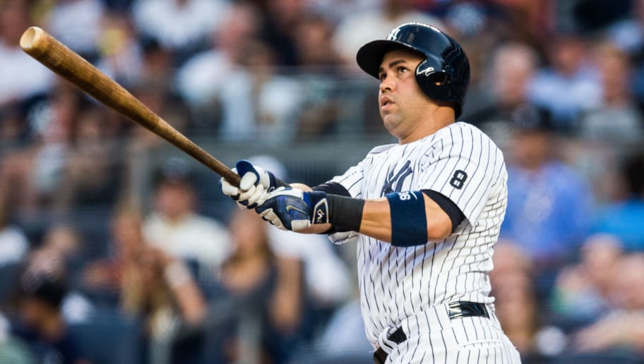 NEW YORK - JULY 22:  Carlos Beltran #36 of the New York Yankees bats during the game against the San Francisco Giants at Yankee Stadium on July 22, 2016 in the Bronx borough of New York City. (Photo by Rob Tringali/SportsChrome/Getty Images)