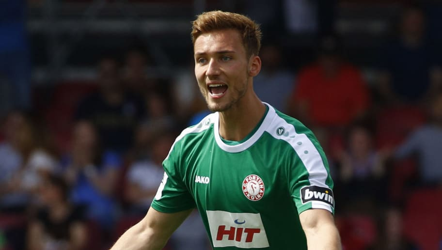 COLOGNE, GERMANY - MAY 12: Tim Boss of Koeln during the 3. Liga match between SC Fortuna Koeln and SC Paderborn 07 at Suedstadion on May 12, 2018 in Cologne, Germany. (Photo by Joachim Sielski/Bongarts/Getty Images) *** Local Caption *** Tim Boss