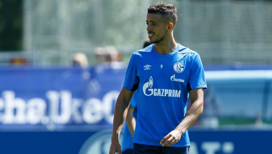 MITTERSILL, AUSTRIA - JULY 31: Franco Matias Di Santo of Schalke looks on during the Schalke 04 Training Camp on July 31, 2018 in Mittersill, Austria. (Photo by TF-Images/Getty Images)