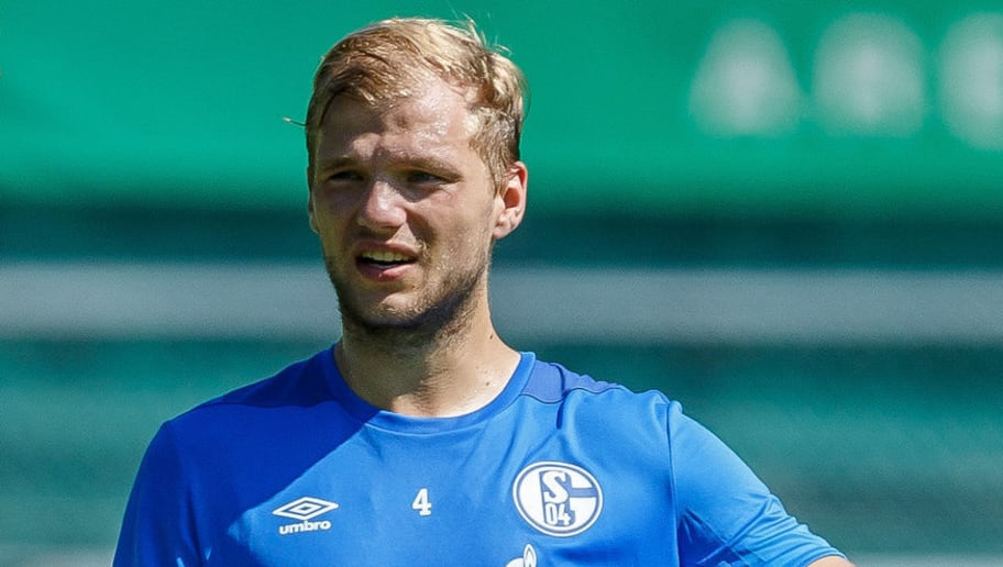 MITTERSILL, AUSTRIA - JULY 31: Johannes Geis of Schalke gestures during the Schalke 04 Training Camp on July 31, 2018 in Mittersill, Austria. (Photo by TF-Images/Getty Images)