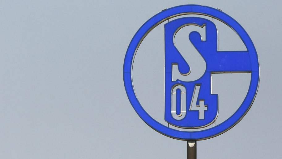 GELSENKIRCHEN, GERMANY - APRIL 28: The official logo of Schalke is seen on the office during the training session of FC Schalke at the training ground on April 28, 2010 in Gelsenkirchen, Germany. (Photo by Christof Koepsel/Bongarts/Getty Images)