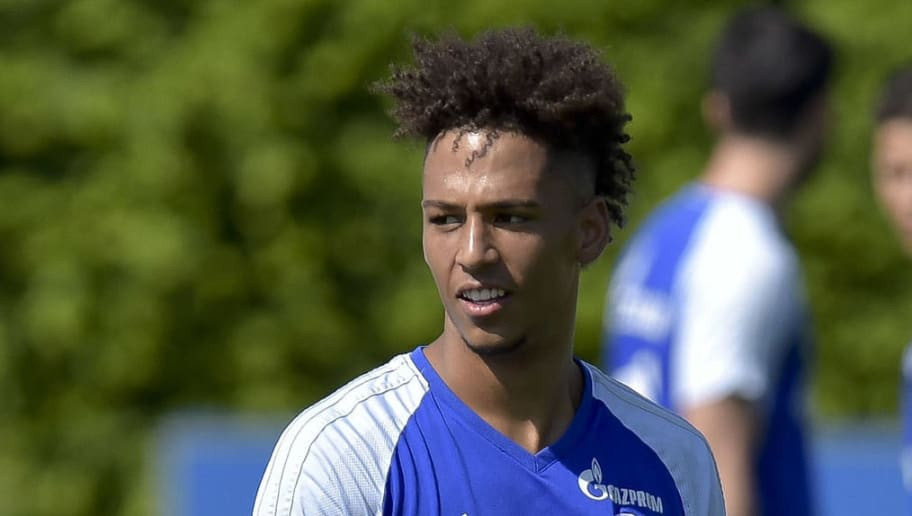 GELSENKIRCHEN, GERMANY - MAY 09: Thilo Kehrer of Schalke looks on during a training session at the FC Schalke 04 Training center on May 9, 2018 in Gelsenkirchen, Germany. (Photo by TF-Images/Getty Images)