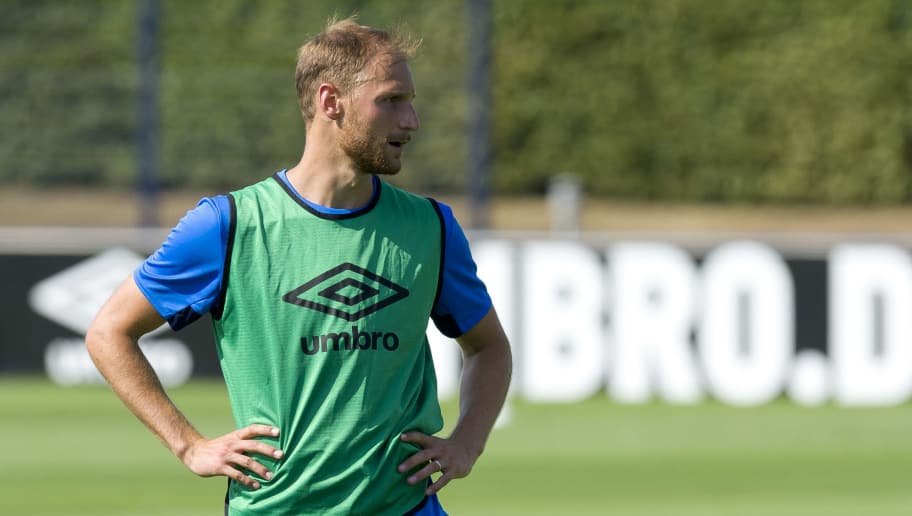 GELSENKIRCHEN, GERMANY - JULY 26: Benedikt Hoewedes of Schalke looks on during a training session at the FC Schalke 04 Training center on July 26, 2018 in Gelsenkirchen, Germany. (Photo by TF-Images/Getty Images)