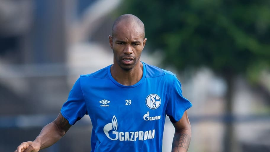 GELSENKIRCHEN, GERMANY - SEPTEMBER 05: Naldo of Schalke controls the ball during the Schalke 04 Training Session on September 5, 2018 in Gelsenkirchen, Germany. (Photo by TF-Images/Getty Images)