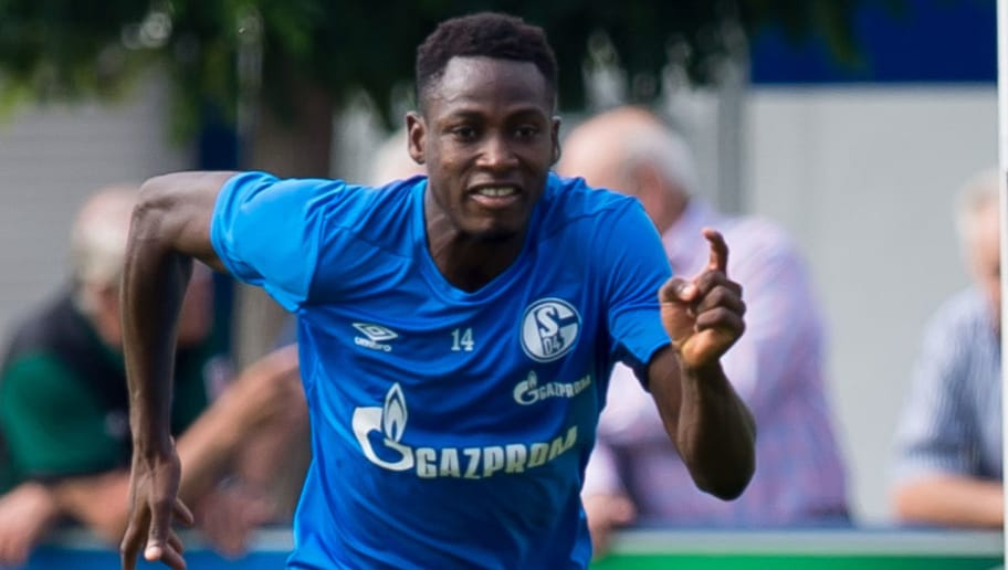 GELSENKIRCHEN, GERMANY - SEPTEMBER 05: Abdul Rahman Baba of Schalke controls the ball during the Schalke 04 Training Session on September 5, 2018 in Gelsenkirchen, Germany. (Photo by TF-Images/Getty Images)