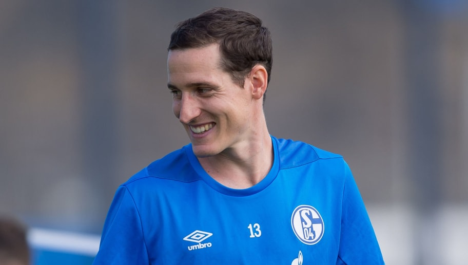 GELSENKIRCHEN, GERMANY - SEPTEMBER 05: Sebastian Rudy of Schalke looks on during the Schalke 04 Training Session on September 5, 2018 in Gelsenkirchen, Germany. (Photo by TF-Images/Getty Images)