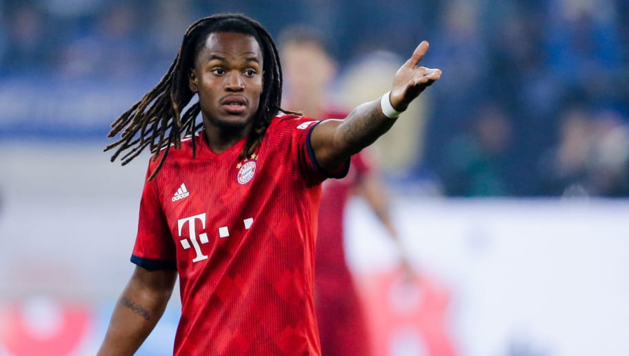 GELSENKIRCHEN, GERMANY - SEPTEMBER 22: Renato Sanches of Bayern Munchen during the German Bundesliga  match between Schalke 04 v Bayern Munchen at the Veltins Arena on September 22, 2018 in Gelsenkirchen Germany (Photo by Erwin Spek/Soccrates/Getty Images)
