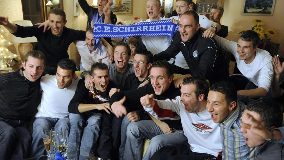 Schirrhein's players (fromL down) Mickae