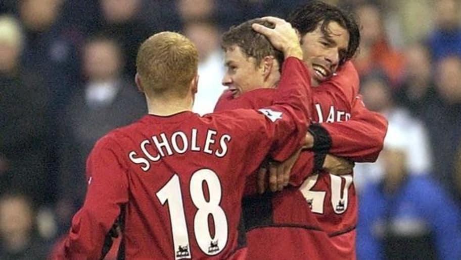 Scholes and van Nistelrooy congratulate Solskjaer