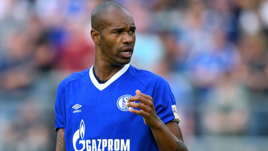 ESSEN, GERMANY - JULY 21: Naldo of Schalke looks on during the Friendly match between Schwarz Weiss Essen and FC Schalke 04 on July 21, 2018 in Essen, Germany. (Photo by TF-Images/Getty Images)