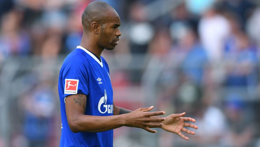 ESSEN, GERMANY - JULY 21: Naldo of Schalke gestures during the Friendly match between Schwarz Weiss Essen and FC Schalke 04 on July 21, 2018 in Essen, Germany. (Photo by TF-Images/Getty Images)