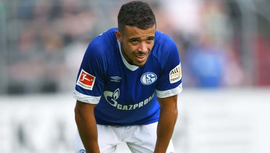 ESSEN, GERMANY - JULY 21: Franco di Santo of Schalke looks on during the Friendly match between Schwarz Weiss Essen and FC Schalke 04 on July 21, 2018 in Essen, Germany. (Photo by TF-Images/Getty Images)