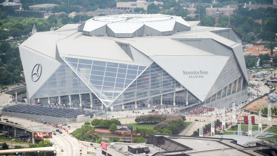 ATLANTA, GA - JULY 15: General view of Mercedes-Benz Stadium prior the matchup between the Atlanta United and the Seattle Sounders FC 2 on July 15, 2018 in Atlanta, Georgia.  (Photo by Michael Chang/Getty Images)