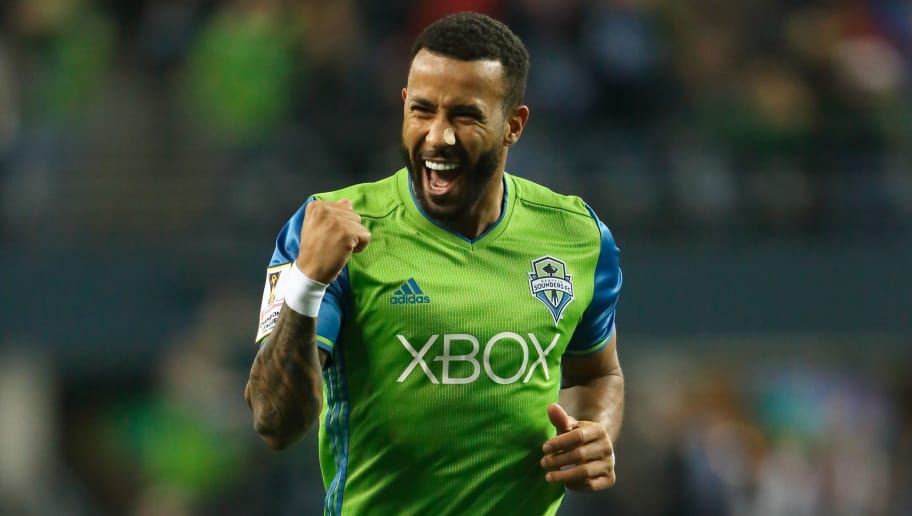 SEATTLE, WA - FEBRUARY 23:  Tyrone Mears of the Seattle Sounders during the CONCACAF Champions League match between Seattle Sounders and Club America at CenturyLink Field on February 23, 2016 in Seattle, Washington.  (Photo by Matthew Ashton - AMA/Getty Images)