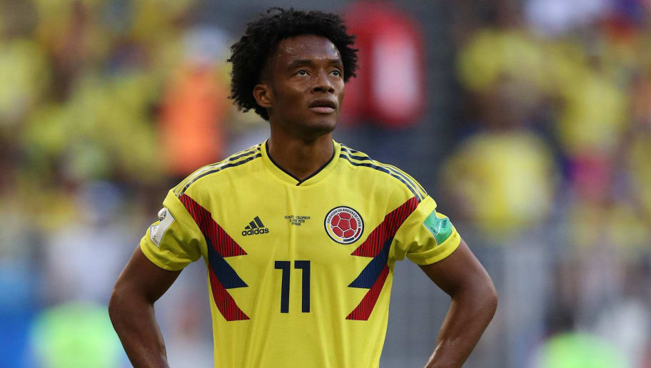 SAMARA, RUSSIA - JUNE 28: Juan Cuadrado of Colombia during the 2018 FIFA World Cup Russia group H match between Senegal and Colombia at Samara Arena on June 28, 2018 in Samara, Russia. (Photo by Viktor Morgan/Epsilon/Getty Images)