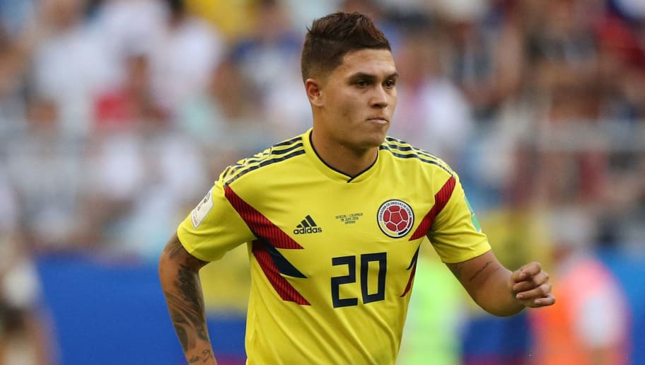SAMARA, RUSSIA - JUNE 28: Juan Quintero of Colombia during the 2018 FIFA World Cup Russia group H match between Senegal and Colombia at Samara Arena on June 28, 2018 in Samara, Russia. (Photo by Viktor Morgan/Epsilon/Getty Images)