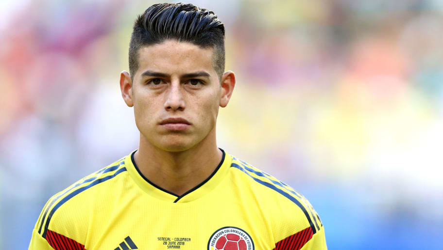 SAMARA, RUSSIA - June 28: James Rodriguez of Colombia before the 2018 FIFA World Cup Russia group H match between Senegal and Colombia at Samara Arena on June 28, 2018 in Samara, Russia. (Photo by Maddie Meyer/Getty Images)