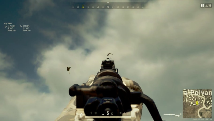 PUBG Player Snipes Parachuting Enemy Through Iron Sights