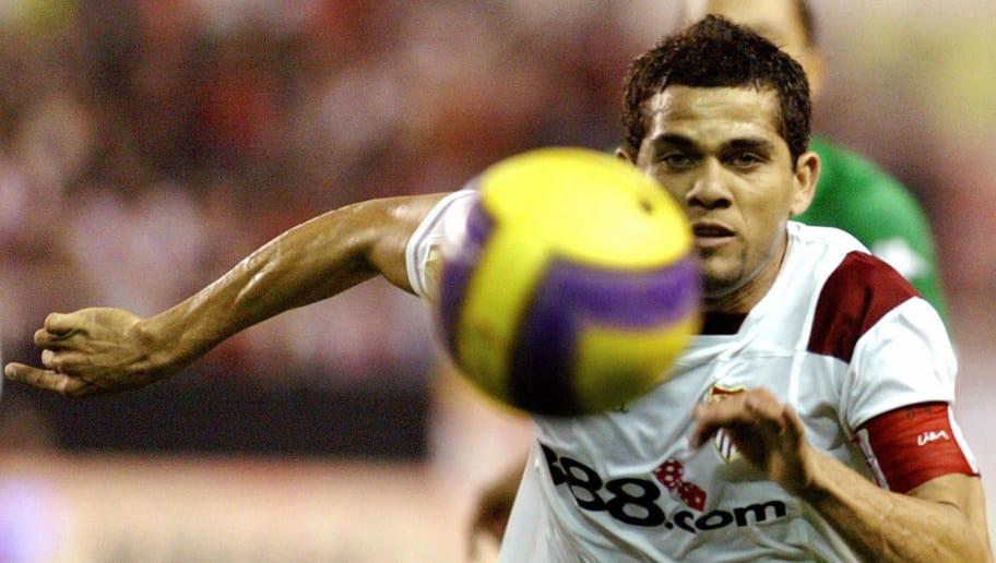 Sevilla's Brazilian Dani Alves runs for
