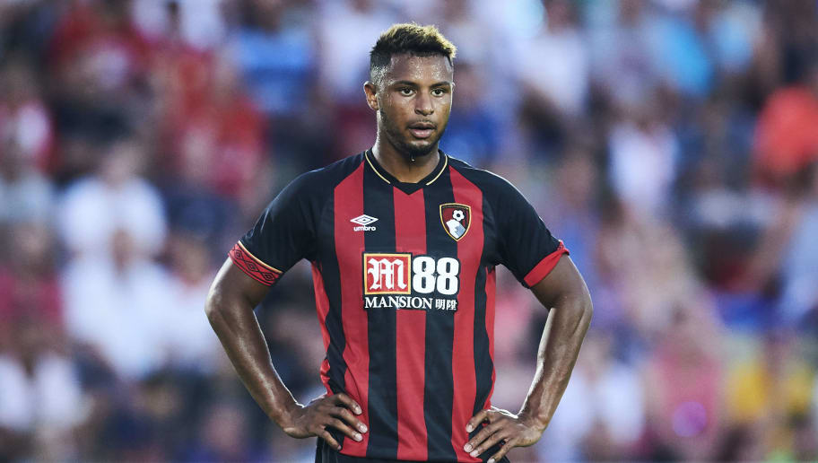 MURCIA, SPAIN - JULY 14: lys Mousset of AFC Bournemouth reacts during Pre- Season friendly Match between Sevilla FC and AFC Bournemouth at La Manga Club on July 14, 2018 in Murcia, Spain.  (Photo by Aitor Alcalde/Getty Images)