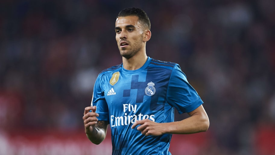 SEVILLE, SPAIN - MAY 09:  Dani Ceballos of Real Madrid CF reacts during the La Liga match between Sevilla FC and Real Madrid at Ramon Sanchez Pizjuan stadium on May 9, 2018 in Seville, Spain.  (Photo by Aitor Alcalde/Getty Images)