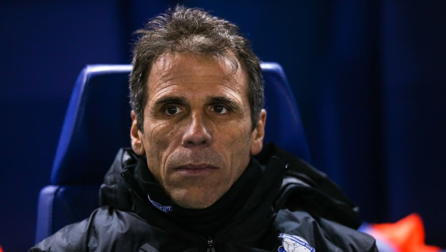 SHEFFIELD, ENGLAND - FEBRUARY 10: Gianfranco Zola head coach / manager of Birmingham City during the Sky Bet Championship match between Sheffield Wednesday and Birmingham City at Hillsborough on February 10, 2017 in Sheffield, England. (Photo by Robbie Jay Barratt - AMA/Getty Images)