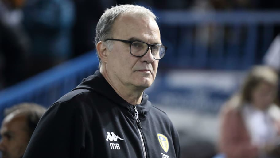 SHEFFIELD, ENGLAND - SEPTEMBER 28: Leeds United Manager \ Head Coach Marcelo Bielsa during the Sky Bet Championship match between Sheffield Wednesday v Leeds United at Hillsborough Stadium on September 28, 2018 in Sheffield, England. (Photo by James Williamson - AMA/Getty Images)