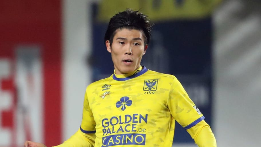 SINT-TRUIDEN, BELGIUM - NOVEMBER 25: Takehiro Tomiyasu pictured in action during the Jupiler Pro League match between Sint-Truidense V.V. and RSC Anderlecht at Stayen on November 25, 2018 in Sint-Truiden, Belgium. (Photo by Vincent Van Doornick/Isosport/MB Media/Getty Images)