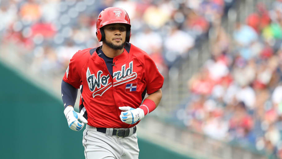 WASHINGTON, DC - JULY 15: Fernando Tatis Jr. #23 during the SiriusXM All-Star Futures Game at Nationals Park on July 15, 2018 in Washington, DC. (Photo by Rob Carr/Getty Images)