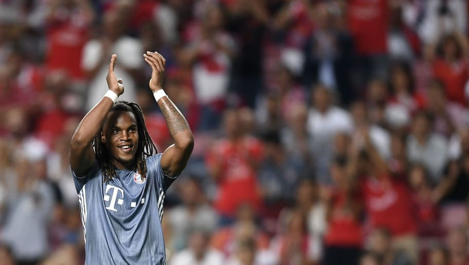 LISBON, PORTUGAL - SEPTEMBER 19:  Renato Sanches of Bayern Munich celebrates after scoring his team's second goal during the Group E match of the UEFA Champions League between SL Benfica and FC Bayern Muenchen at Estadio da Luz on September 19, 2018 in Lisbon, Portugal.  (Photo by Octavio Passos/Getty Images)