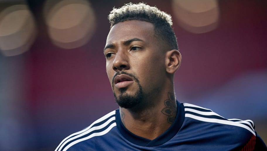 LISBON, PORTUGAL - SEPTEMBER 19:  Jerome Boateng of Bayern Munich looks on prior to the Group E match of the UEFA Champions League between SL Benfica and FC Bayern Muenchen at Estadio da Luz on September 19, 2018 in Lisbon, Portugal.  (Photo by Quality Sport Images/Getty Images)