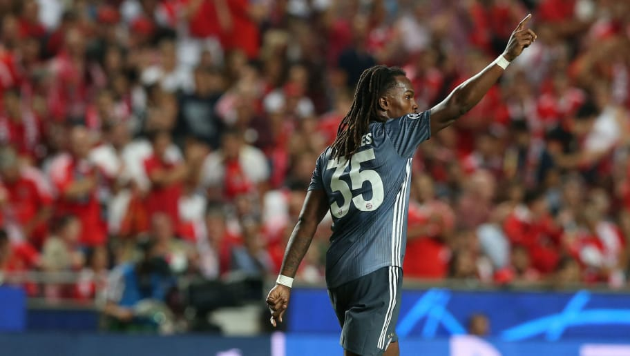 LISBON, PORTUGAL - SEPTEMBER 19: Renato Sanches of Bayern Munchen celebrates after scoring a goal in action during the UEFA Champions League Group E match between SL Benfica and FC Bayern Munchen at Estadio da Luz on September 19, 2018 in Lisbon, Portugal.  (Photo by Gualter Fatia/Getty Images)