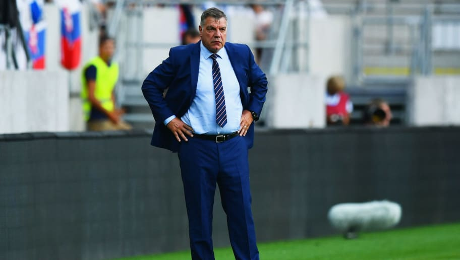 TRNAVA, SLOVAKIA - SEPTEMBER 04:  Sam Allardyce manager of England looks on from the touchline during the 2018 FIFA World Cup Group F qualifying match between Slovakia and England at City Arena on September 4, 2016 in Trnava, Slovakia.  (Photo by Dan Mullan/Getty Images)