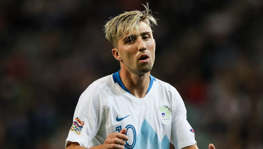 LJUBLJANA, SLOVENIA - SEPTEMBER 06: Kevin Kampl of Slovenia reacts during a match between Slovenia and Bulgaria as part of UEFA Nations League C 2019 on September 6, 2018 in SRC Stozice, Ljubljana, Slovenia. (Photo by MB Media/Getty Images)