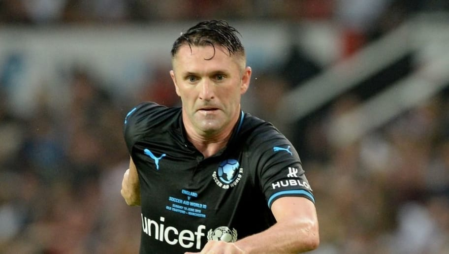 MANCHESTER, ENGLAND - JUNE 10:  Robbie Keane in action during Soccer Aid for Unicef 2018 at Old Trafford on June 10, 2018 in Manchester, England.  (Photo by Dave J Hogan/Getty Images)