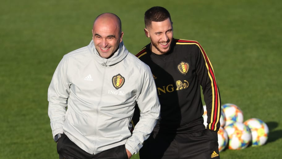 Martínez s Hazardem při tréninku belgické reprezentace