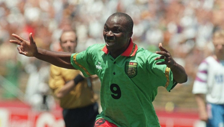 SOCCER-WORLD CUP-1994-CAMEROON-RUSSIA-ROGER MILLA