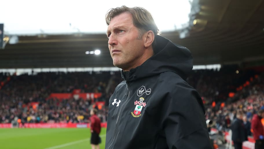 SOUTHAMPTON, ENGLAND - DECEMBER 16: Southampton Manager \ head coach Ralph Hasenhuttl during the Premier League match between Southampton FC and Arsenal FC at St Mary's Stadium on December 16, 2018 in Southampton, United Kingdom. (Photo by James Williamson - AMA/Getty Images)