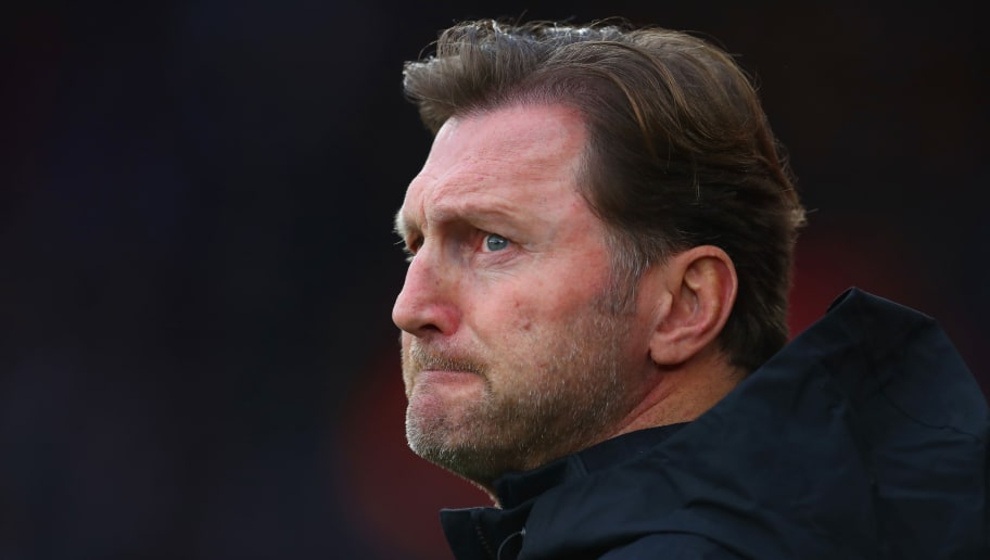 SOUTHAMPTON, ENGLAND - DECEMBER 30:  Ralph Hasenhuettl, Manager of Southampton looks on prior to the Premier League match between Southampton FC and Manchester City at St Mary's Stadium on December 29, 2018 in Southampton, United Kingdom.  (Photo by Catherine Ivill/Getty Images)