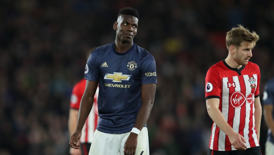 SOUTHAMPTON, ENGLAND - DECEMBER 01: Paul Pogba of Manchester United during the Premier League match between Southampton FC and Manchester United at St Mary's Stadium on December 1, 2018 in Southampton, United Kingdom. (Photo by James Williamson - AMA/Getty Images)