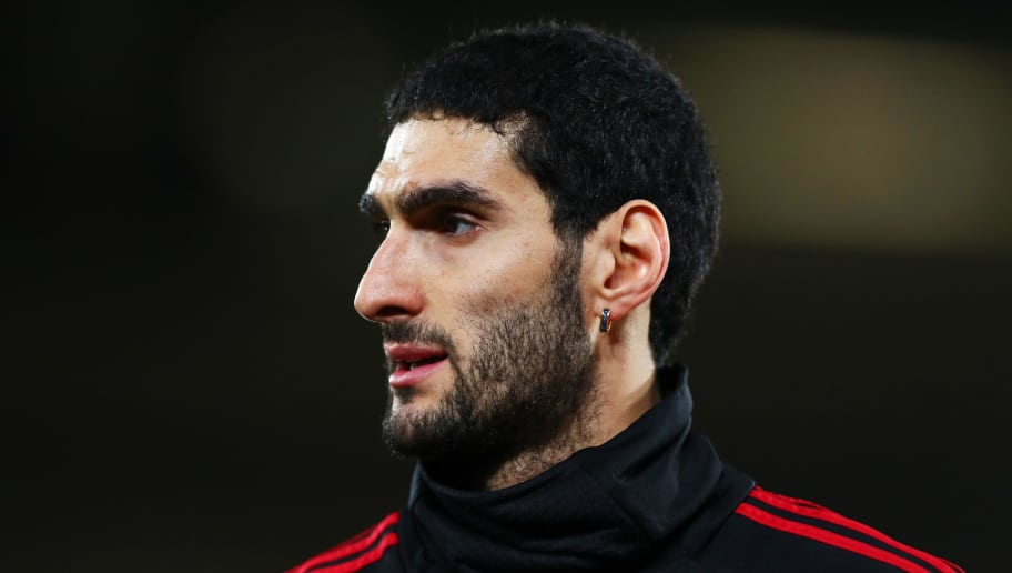 SOUTHAMPTON, ENGLAND - DECEMBER 01:  Marouane Fellaini of Manchester United looks on during the warm-up before the Premier League match between Southampton FC and Manchester United at St Mary's Stadium on December 01, 2018 in Southampton, United Kingdom. (Photo by Dan Istitene/Getty Images)