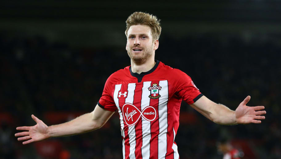 SOUTHAMPTON, ENGLAND - DECEMBER 01:  Stuart Armstrong of Southampton celebrates after scoring his team's first goal during the Premier League match between Southampton FC and Manchester United at St Mary's Stadium on December 1, 2018 in Southampton, United Kingdom.  (Photo by Dan Istitene/Getty Images)
