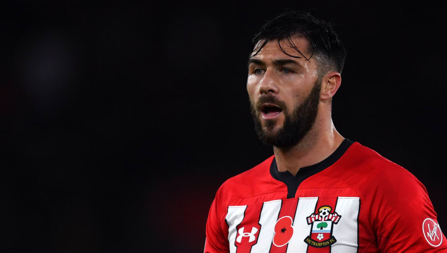 SOUTHAMPTON, ENGLAND - NOVEMBER 10: Charlie Austin of Southampton looks on during the Premier League match between Southampton FC and Watford FC at St Mary's Stadium on November 10, 2018 in Southampton, United Kingdom. (Photo by Harry Trump/Getty Images)
