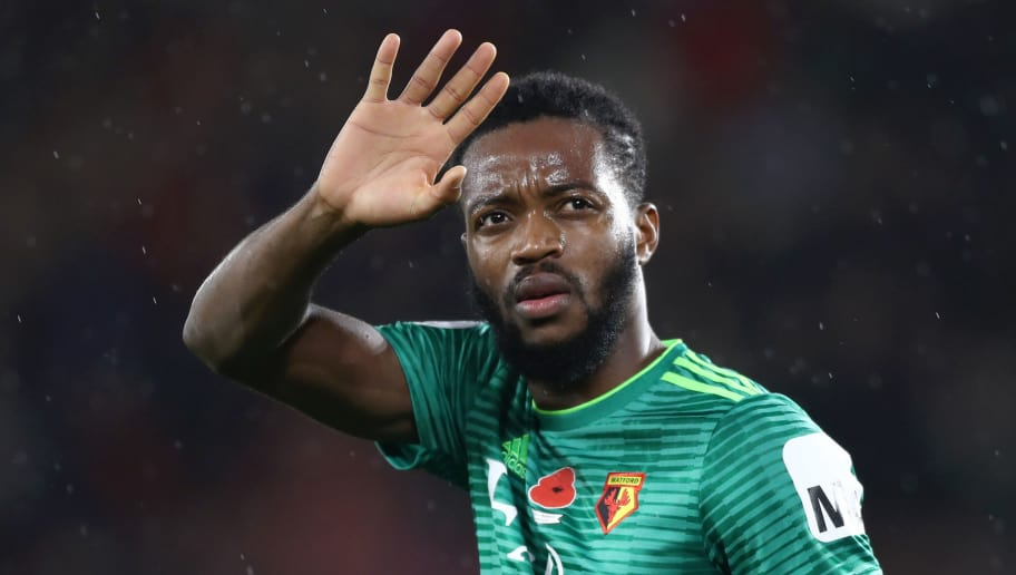 SOUTHAMPTON, ENGLAND - NOVEMBER 10:  Nathaniel Chalobah of Watford acknowledges the fans after the Premier League match between Southampton FC and Watford FC at St Mary's Stadium on November 10, 2018 in Southampton, United Kingdom.  (Photo by Bryn Lennon/Getty Images)