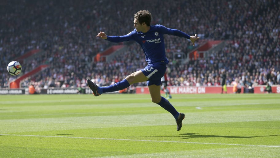SOUTHAMPTON, ENGLAND - APRIL 14: Marcos Alonso of Chelsea during the Premier League match between Southampton and Chelsea at St Mary's Stadium on April 14, 2018 in Southampton, England. (Photo by Henry Browne/Getty Images) *** Local Caption *** Marcos Alonso